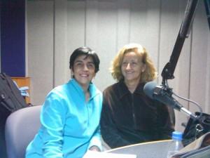 Aloka Pascual y Marisela Valero en el estudio