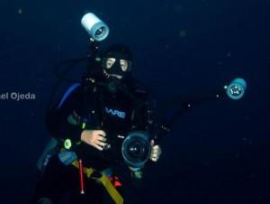Gaby Carías en su mundo submarino