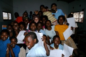 Niños de la escuela del Padre Langa