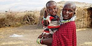Una mujer masai