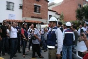 Simulacro de desalojo efectuado en Chacao. Cortesía de Entrevecinos