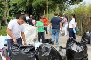 La comunidad activa con el reciclaje.Foto cortesía ECOCLICK