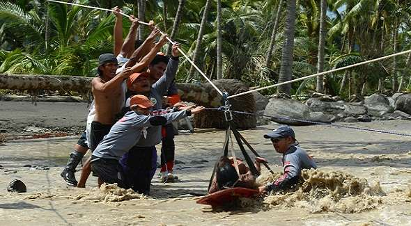 El tifón Bopha devastó el sur de Filipinas, foto talcualdigital.com