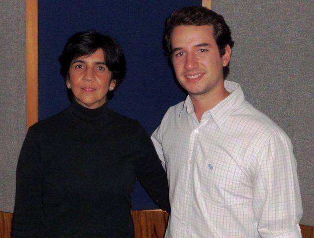 Marisela Valero junto a Diego León Socorro, foto Héctor Luna