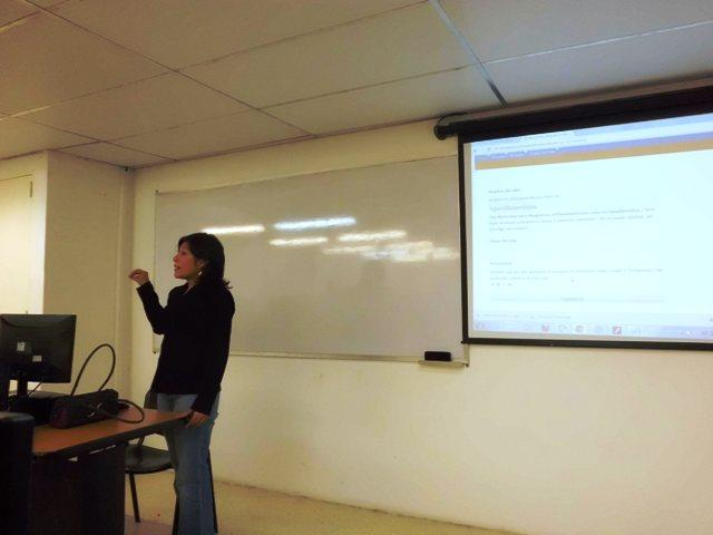 La periodista Ligia Villamediana, Taller Herramientas Digitales Tu Voz es Noticia