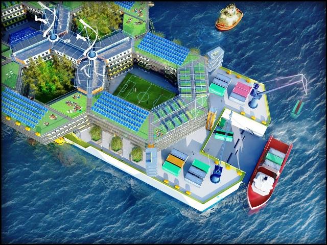 Una plataforma tecnológica sobre el mar