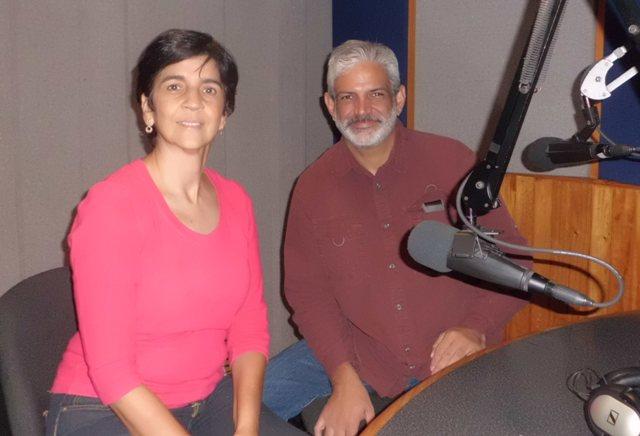 Franklin Rojas de Provita con Marisela Valero. Foto Héctor Luna