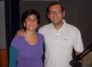 Víctor Blanco, biólogo marino, con Marisela Valero, foto Héctor Luna