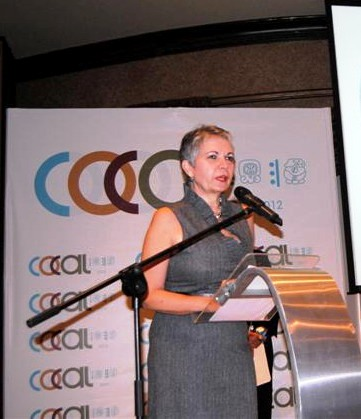 Bertha García, Presidenta de la COCAL