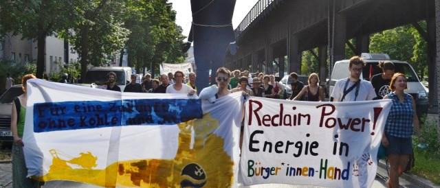 Protestas en la calle de los ciudadanos de Berlín por controlar su electricidad