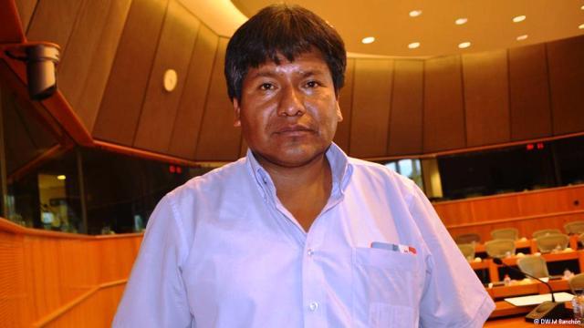 Víctor Hugo Vázquez, viceministro boliviano de Desarrollo Rural, Bruselas, 18.09.2013.Foto: DWE