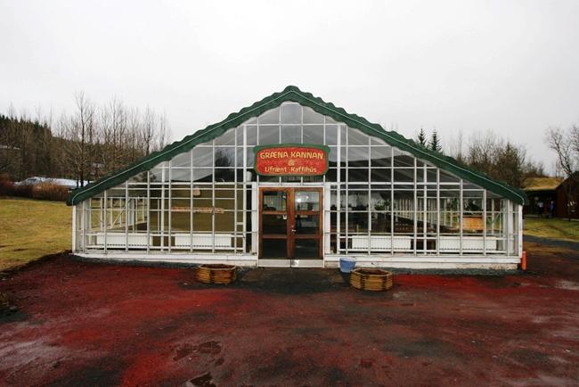Uno de los invernaderos está siendo ahora utilizado como el restaurante y el lugar de presentación. Solheimar hoy ofrece toda su producción a lugares fuera de la capital Reykjavik y los suburbios. Cortesia de http://www.dorigislason.com/bio-solheimar-in-iceland/