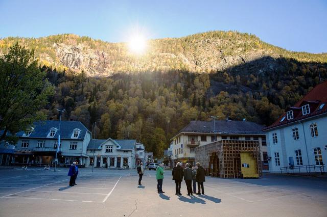 Rjukan en Noruega, con su espejo solar en la montaña