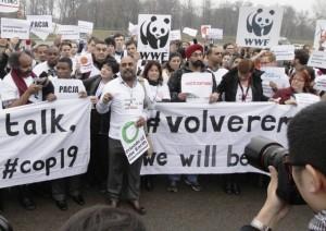 Las protestas: orden del día en la Conferencia de Varsovia