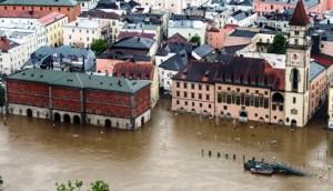 Países desarrollados no están libres de padecer las consecuencias del cambio climático. Salzburgo, en fecha reciente, bajo las aguas