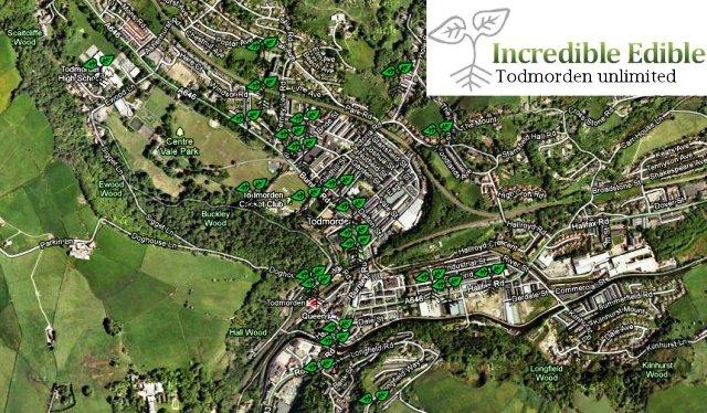 Mapa a la entrada de  Todmorden