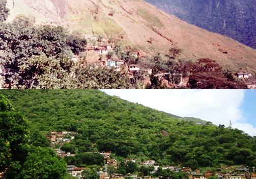 Morro da Formiga en 1997 (arriba) y en 2010 (abajo) Foto: SMAC