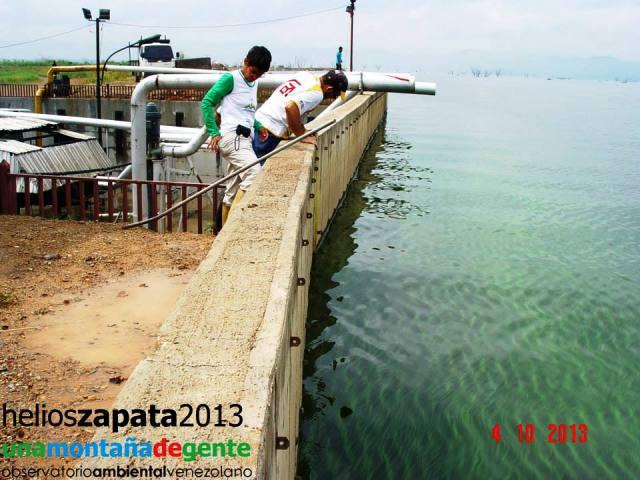 Cristina Vaamonde activista ambiental visita el Lago de  Valencia, foto Una Montaña de Gente