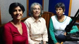 Marisela Valero con la Ingeniero Silvana Peñuela y la ambientalista Cristina Vaamonde foto Héctor Luna