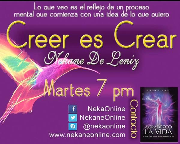Nekane tiene su programa de radio en www.Visiononline.com y su libro Agradezco la Vida. Foto www.nekaneonline.com