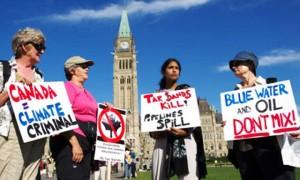 Protestas ambientalistas en Canadá foto:http://diarioelpopular.com/