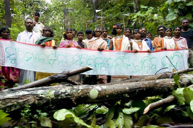 Protesta de los moradores de Orisa en las montañas de Nitambiri,