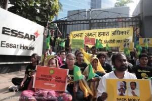 Protesta de campesinos y ambientalistas contra la minería en Mahan. Foto Greenpeace