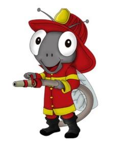 Hola soy Maleiwa la mascota bombero del Proyecto MOSCA y te invito a crear un cuento sobre cómo puedo ayudarlos en sus escuelas y en sus hogares