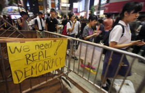 Una real democracia es lo que pide la gente en China
