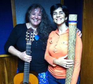 Fanny Fuguet con Marisela Valero en el estudio