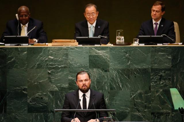El discurso fuerte de Leonardo Di Caprio en la Cumbre de New York insta a los políticos a cumplir con hechos y dejar las promesas.