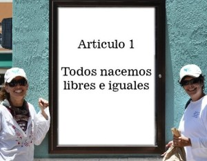 Artículo 1 Todos nacemos Iguales. Foto ISHR
