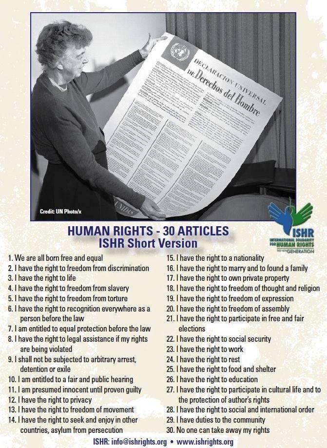 Eleonor Rosevelt pionera en la defensa de los derechos Humanos