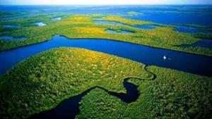 Una toma aérea de lo que aún queda de Amazonia en plenitud, que es lo que queremos ver por siempre. Foto vuelaviajes.com
