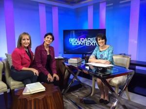Raiza Perrault, Marisela Valero junto a Mercedes Soler. Foto Adriana Sornes