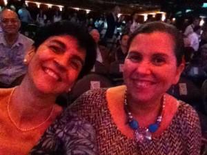 Mariana Obispo junto a Marisela Valero en un concierto realizado en Miami,USA