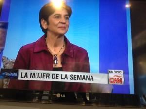 Marisela Valero como La Mujer de la Semana en Realidades en Contexto. Foto Nidia Hernadez