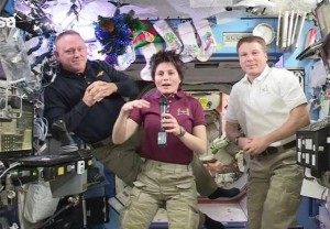 Astronautas felices con la iniciativa de Cristoforetti