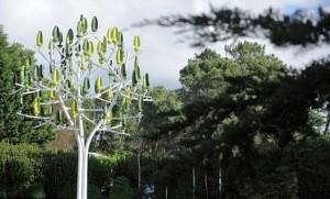 Arboles de viento comparten con árboles naturales