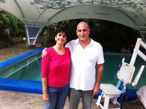 Waldon Parra con Marisela Valero.