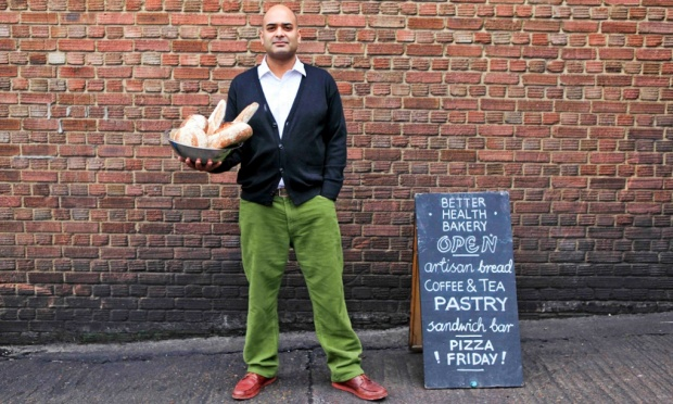 Ashwin Matthews, of the Better Health Bakery Photograph: Claudia Janke/Guardian