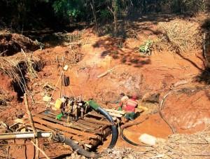 La minería ilegal en el Caura es devastadora
