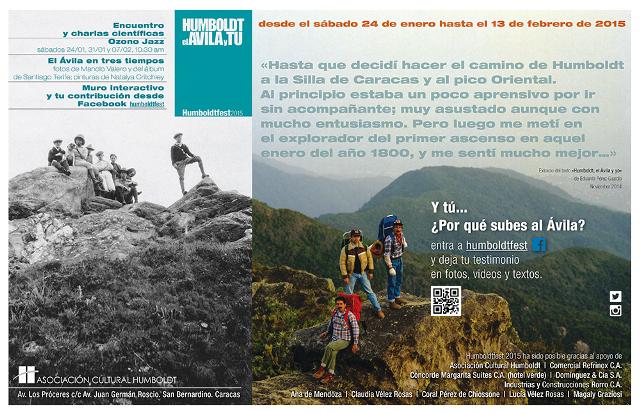 Exposicion Humboldt , El Avila y tu