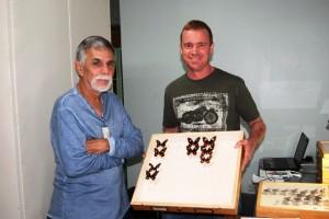 Jose Clavijo con Andrew Neild, asociado de investigación del Museo de Historia Natural de Londres quien estuvo de visita en el MIZA