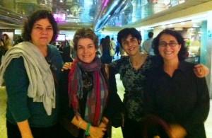 De izquierda a derecha, Katty Yovanovich, María Elena Ramos, Marisela Valero y Nidia Hernández. Foto Gina Saraceni