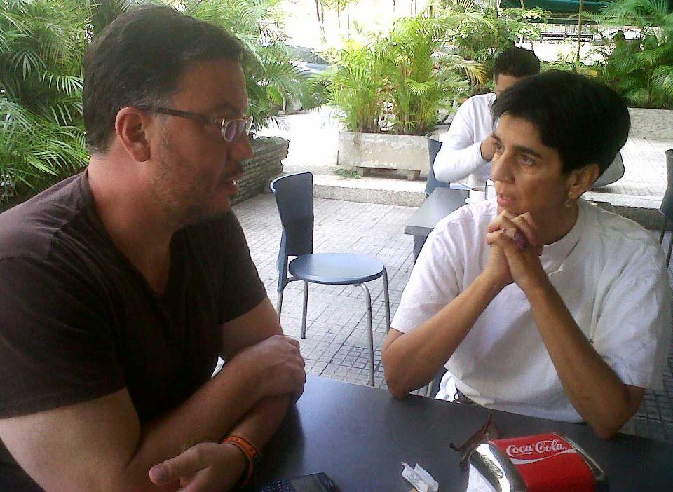 Boris Muñoz con Marisela Valero. Foto Nidia Hernández