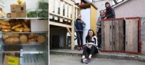 Cuatro estudiantes crearon Bern isst Bern, con tres instalaciones colectivas en el barrio de Lorraine