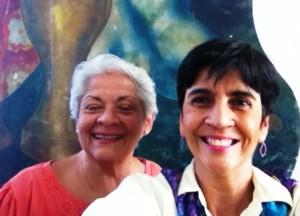 Aura Sofía Díaz y Marisela Valero en un selfie