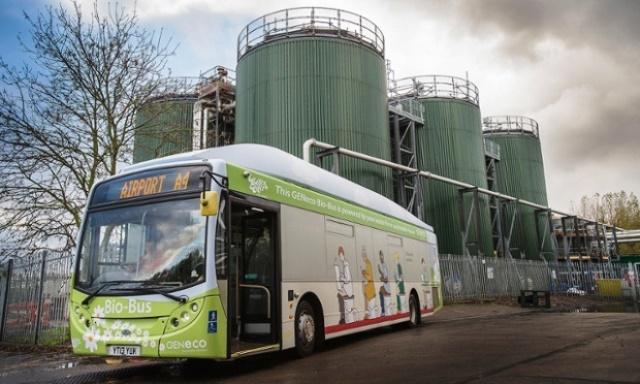 Bio bus, cargando combustible