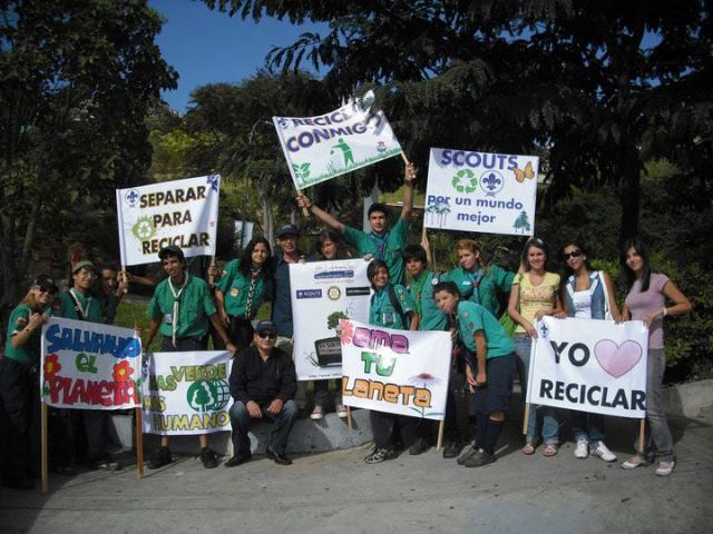 La Asociación Scout es modelo ambientalista. Foto Radio El Hatillo